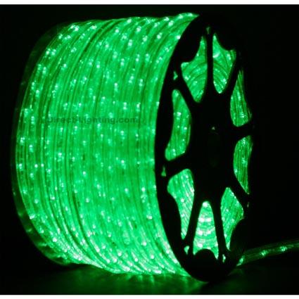 green led rope lights 148ft rlwl 148 grn direct