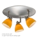 3-Light Flush Mount Ceiling Light D168-3R-AMF - D168-3R-AMF-BS
