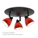 3-Light Multi-Directional Ceiling Fixture D168-3R - D168-3R-AMF-BS