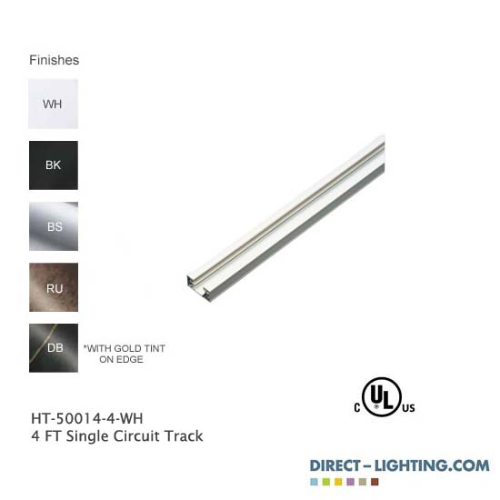 4 FT Single Circuit Track H System Color Chart