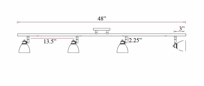 4 light bar track lighting kit ceiling mount track lighting