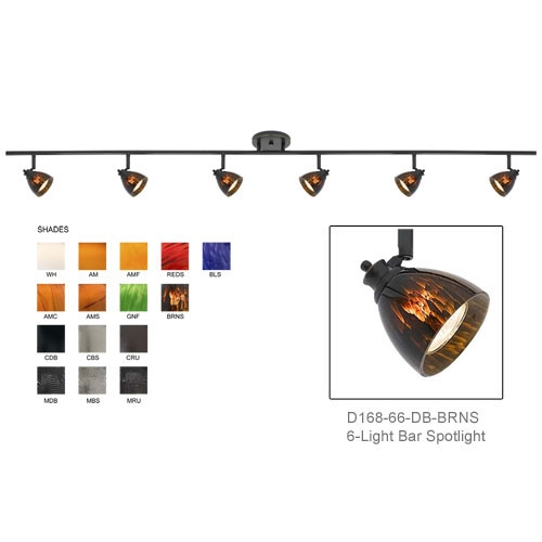 Bar spotlight fixed track lighting kit bar track lighting flush d168 66 shown with dark bronze finished with brown spot shades d168 66 db brns mozeypictures Choice Image
