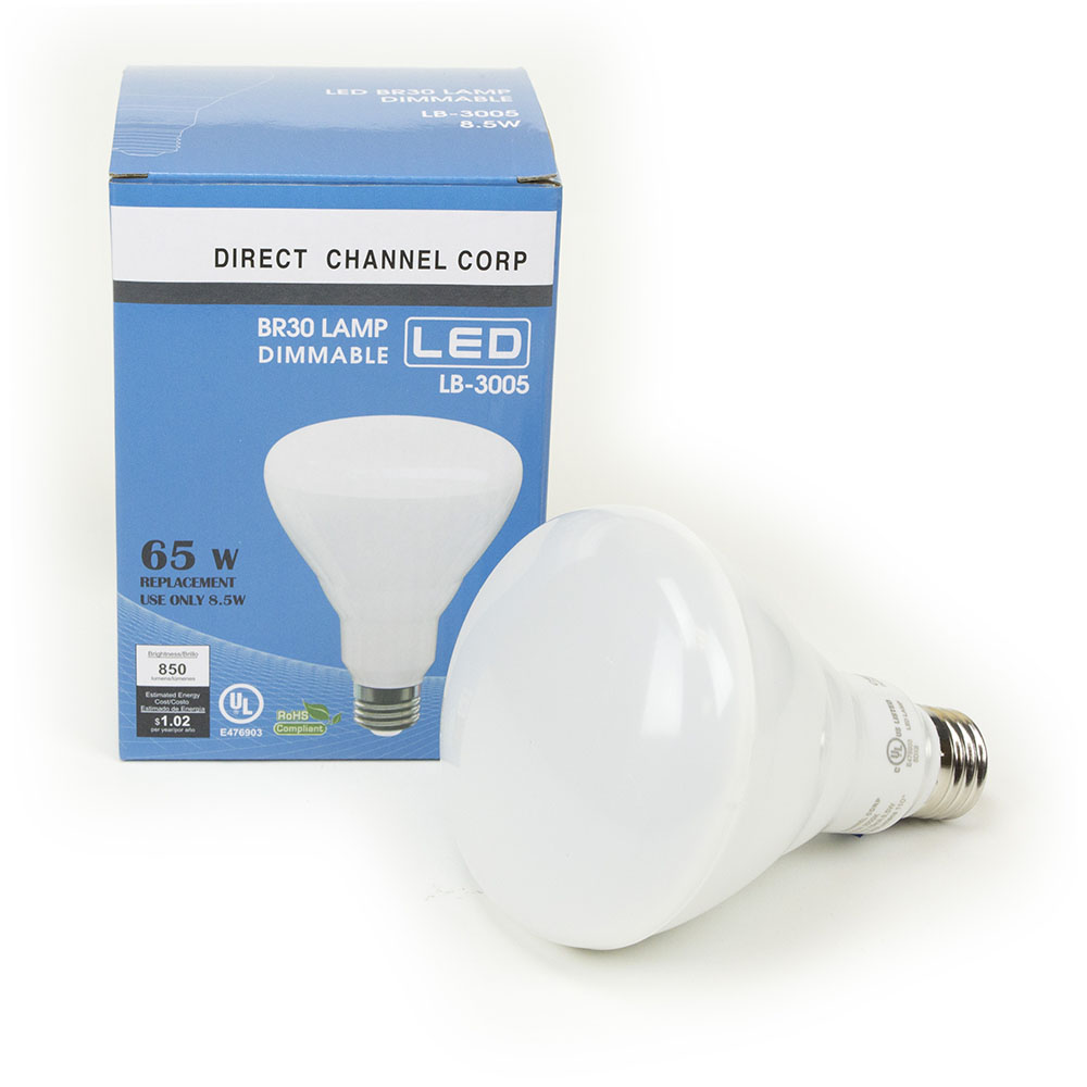 8.5W LED BR30 Light Bulb 3000K Warm White  BR30 LED Bulb, LED Bulbs, Light Bulbs, BR30, LED,  Warm White, 3000K, LB-3005-3K