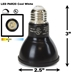 8W LED PAR20 Light Bulb 4000K Cool White - Black Finish  - LB-3000-BK-4K
