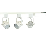 50154-3KIT-27K-WH White Finished 3-Light GU10 LED Track Lighting Kit with 2700K Color Temperature