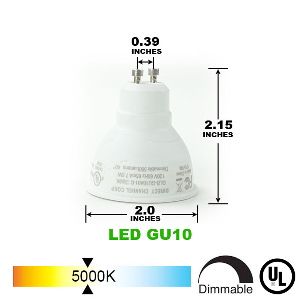 GU10 LED Track Lighting Kit 50155-3KIT-5K-WH - 50155-3KIT-5K-WH-50090
