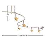 Juno Lighting Monorail Kit MLKD3-STN-AM
