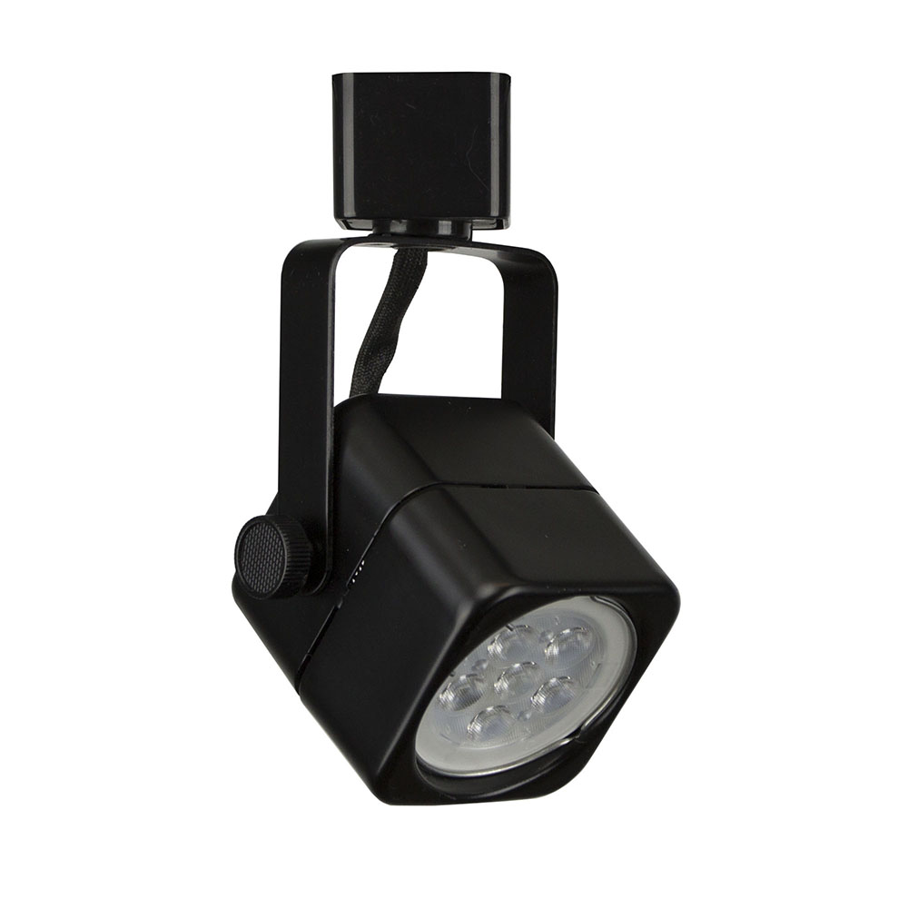 12v Led Track Lighting Systems: LED Track Lighting Cylinder Fixture 7.5W 50155LED-BK