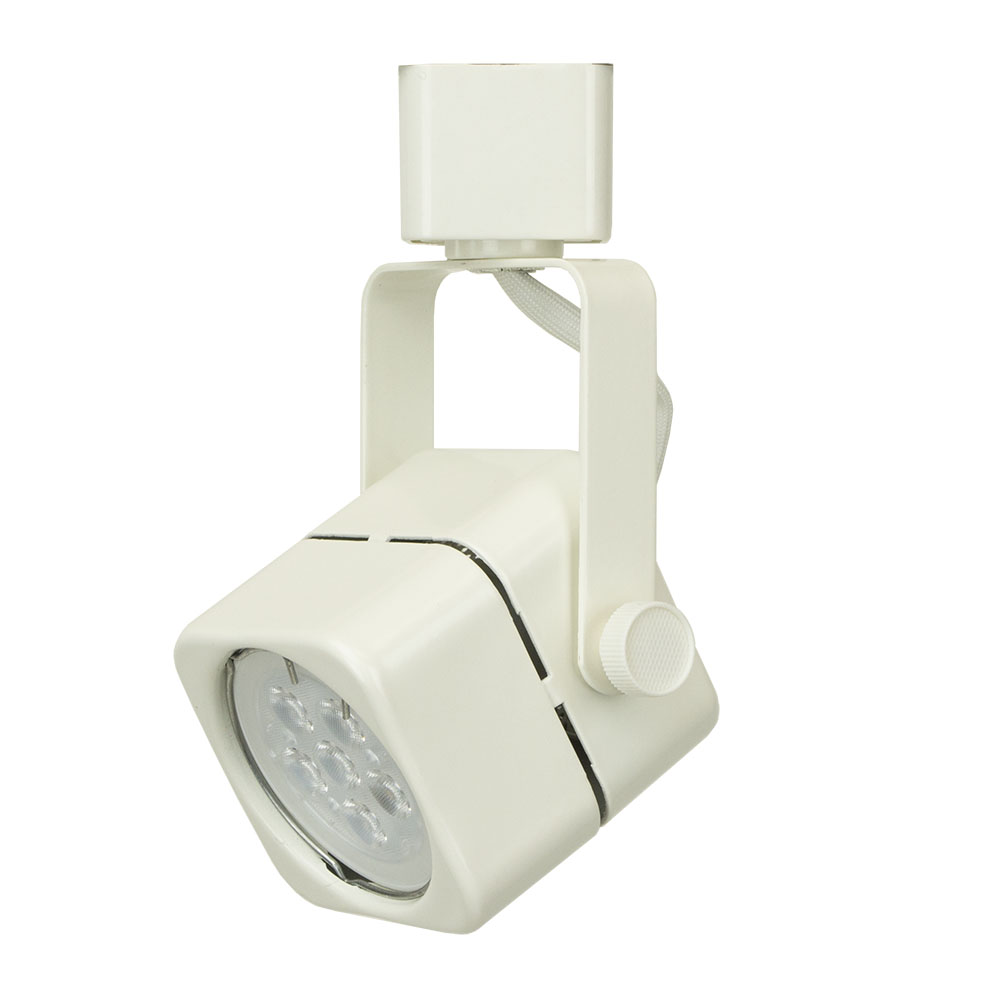 Led track lighting cylinder fixture 75w 50155led wh direct led track lighting fixture with led bulb 50155led wh aloadofball Image collections