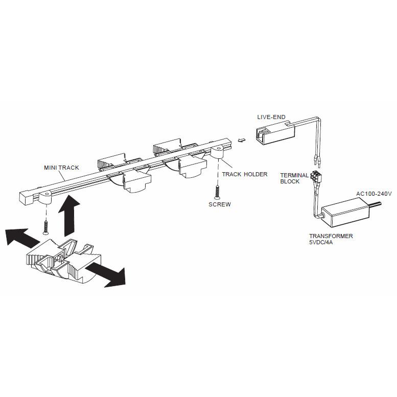 led track lighting kit 8xm88kit 8xm88kit