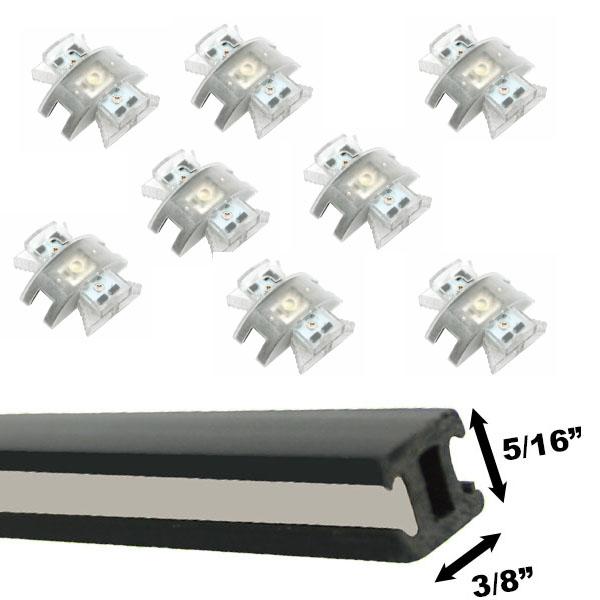 led track lighting kit 8xm88kit
