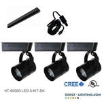 LED Track Lighting Kit Black