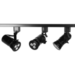 LED PAR20 Track Lighting Fixture in Black
