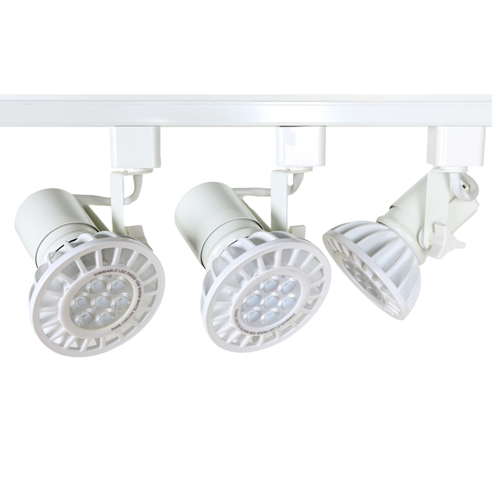 Led track lighting kits led par30 track lighting systems ht led par30 track lighting kit in white aloadofball Images