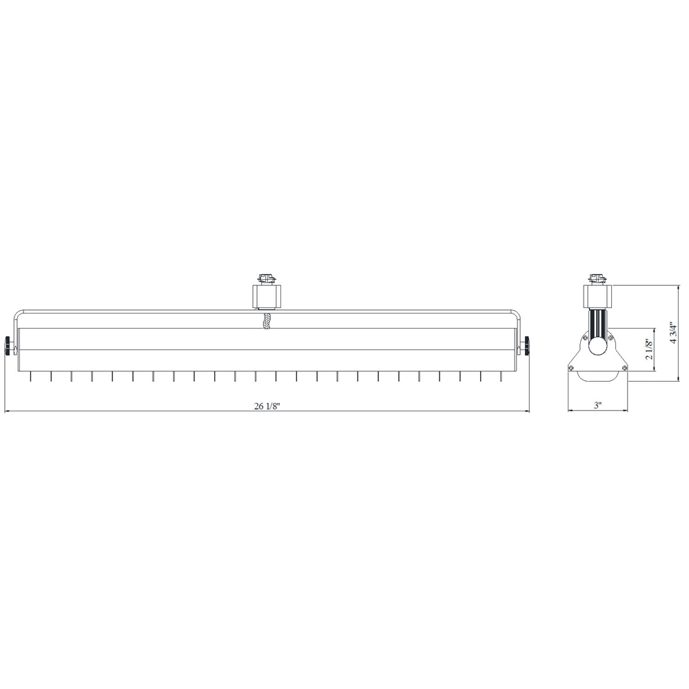 Shop led wall washer track lighting h or j typed etl listed 60092 led wall washer track lighting fixture 60092 60092 3k ht wh arubaitofo Images
