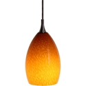 DPN-21-6-AM Amber Colored Raindrop Shaped Glass Pendant Light