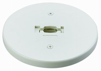 Line Voltage Round Monopoint Plate Adaptor White