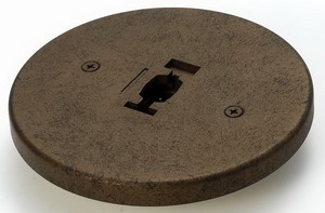 Line Voltage Round Monopoint Plate Adaptor Rust