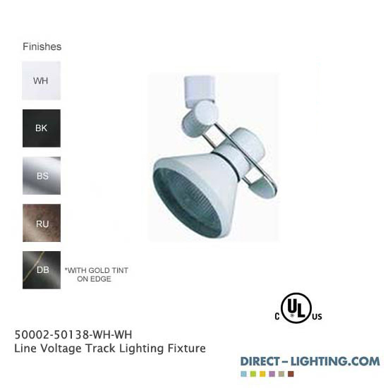 Line Voltage Track Lighting Fixture 50002-50138 - 50002-50138-HT-WH-WH