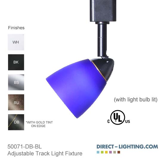 Line Voltage Track Lighting Mini Decorative Glass Shade
