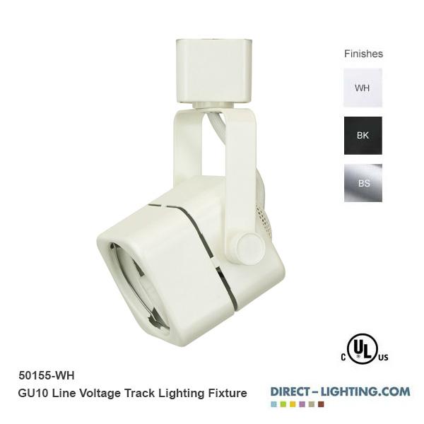 Line voltage track lighting cube 50w gu10 mini track head direct line voltage track lighting fixture 50155 mozeypictures Choice Image
