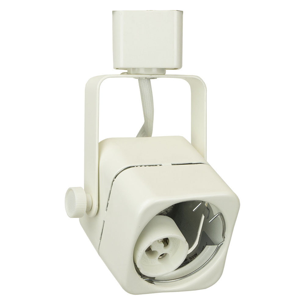 line voltage track lighting cube w gu mini track head direct  - line voltage track lighting fixture   htwh