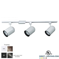 Line Voltage Track Lighting Kit 500153FC Track lighting fixture, Round Back Track Fixture, Line Voltage PAR30 Track Fixture,500153FC