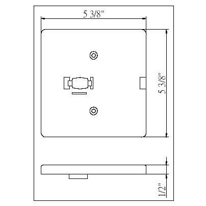 Low Voltage Square Monopoint Plate Adaptor 50105 - 50105-HT-WH