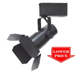 Low Voltage Barn Door Track Lighting Black
