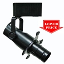 Low Voltage Track Lighting w/ Projection Lens  Black