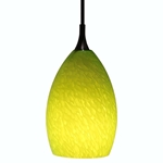 DPN-21-6-GRN Green Colored Raindrop Shaped Glass Pendant Light