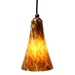 DPN-24-6-AMP Amber Colored Bell Shaped Glass Pendant Light