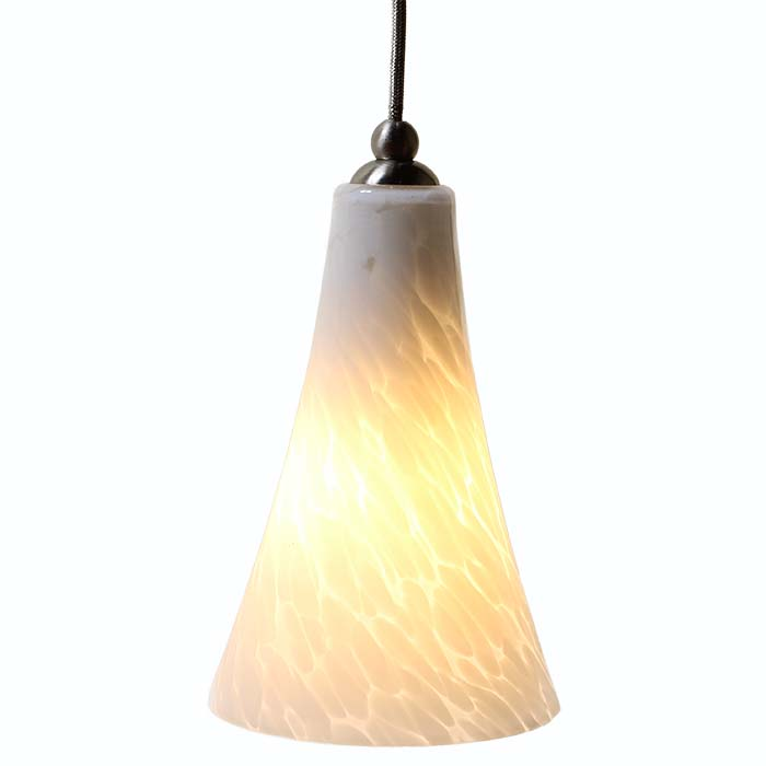 DPN-24-6-WHP White Colored Bell Shaped Glass Pendant Light