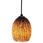 DPN-27-6-AMCK Brown Colored Dome Shaped Glass Pendant Light