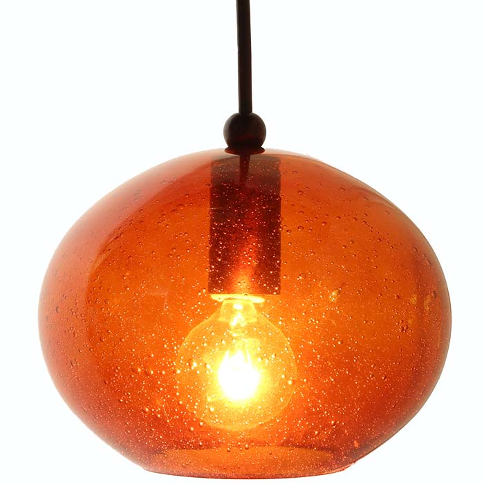 dpn286ambcb amber colored rounded shaped glass pendant light