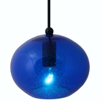 DPN-28-6-BLUECB Amber Colored Rounded Shaped Glass Pendant Light