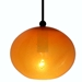 DPN-28-6-ORGCB Orange Colored Rounded Shaped Glass Pendant Light