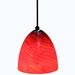 DPN-32-6-REDSP Red Colored Dome Shaped Glass Pendant Light