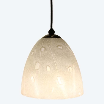 DPN-32-6-WHSP White Colored Dome Shaped Glass Pendant Light