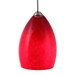 DPNL-22-6-RED Red Colored Dome Shaped Glass Pendant Light