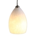 DPNL-22-6-WH White Colored Dome Shaped Glass Pendant Light