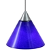 DPNL-25-6-BLUE Blue Colored Cone Shaped Glass Pendant Light