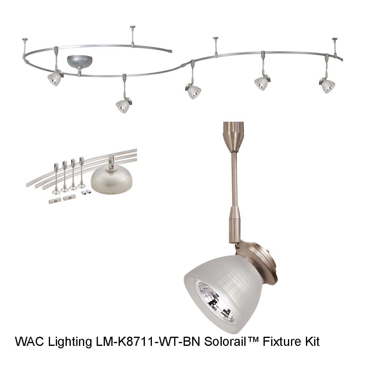 Shop wac lighting monorail lighting kit lm k8711 wt bn lowest wac monorail kit lm k8711 wt bn arubaitofo Image collections