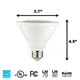 PAR30 LED Light Bulb 10W 5000K Daylight White  PAR30 LED Bulb, LED Bulbs, Light Bulbs, PAR30, PAR, LED,  Cool White, 5000K, LB-7163-5K