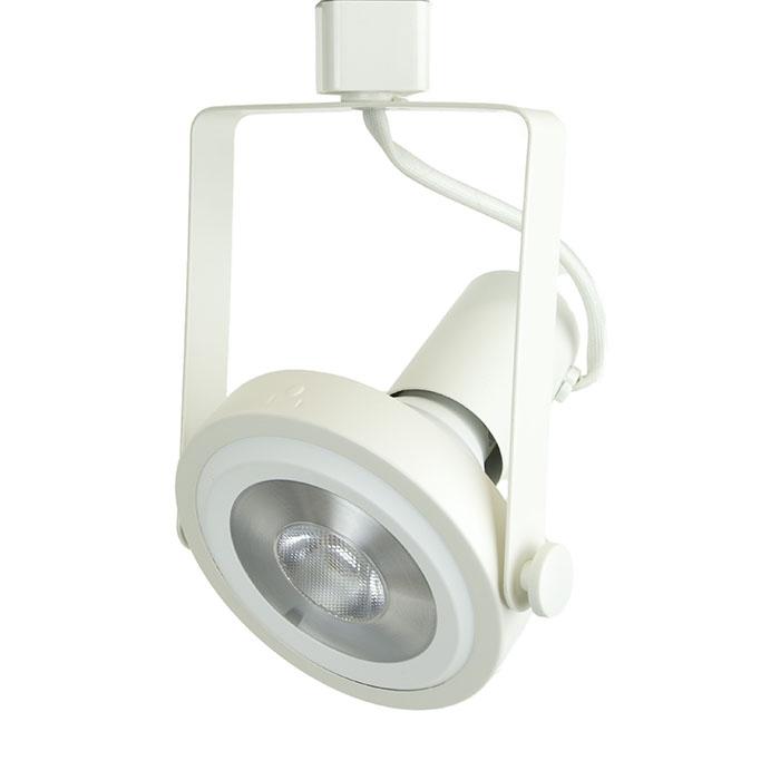 Rear Loading Gimbal Ring LED Track Lighting Fixture White Finish PAR38 18W 4K