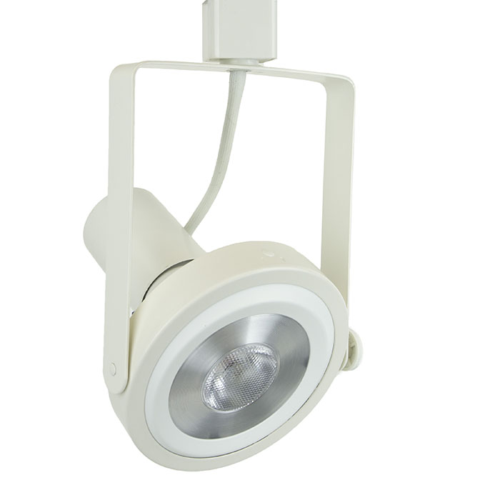 50006-L38-4K-WH Gimbal Ring LED Track Lighting Fixture