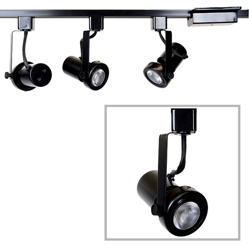 Read Loading Gimbal Ring LED Track Lighting Kit in Black