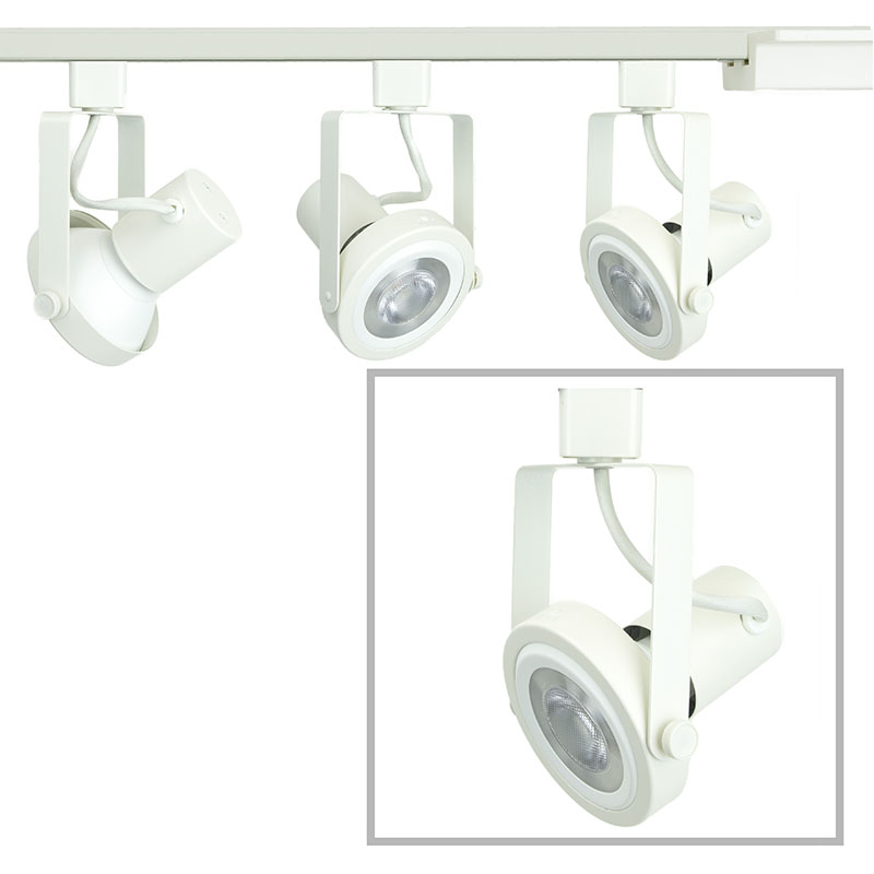 Read Loading Gimbal Ring LED Track Lighting Kit PAR30 3K in White