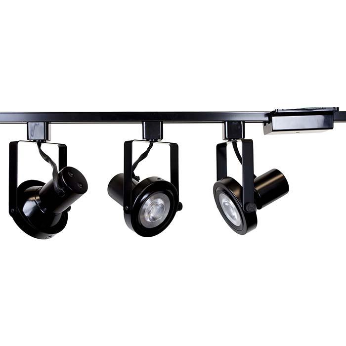 Rear Loading Gimbal Ring Led Track Lighting Kit 50005 3kit 3k Bk