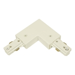 Track Lighting L Connector 50084 L connector, Track Lighting, Track Lighting Accessories, power entry for track,Track Lighting Accessories,Halo Track, Halo Compatible Track, H system track, 3 wire track,straight track, Track Lighting Accessories, Track, Single Circuit, 50084
